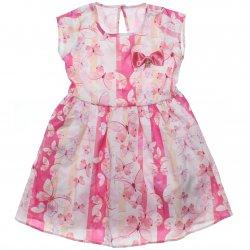 Vestido Infantil Colorittá Estampa Borboletas Laço Cetim 31598