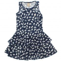 Vestido Infantil Colorittá Estampado Babado 30761