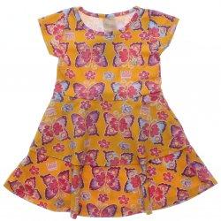 Vestido Infantil Colorittá Estampado Borboletas Babado 31502