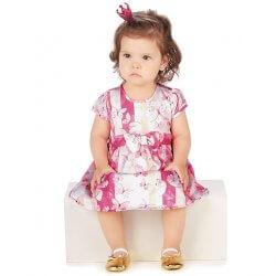 Vestido Infantil Colorittá Estampado Borboletas Laço 31499