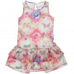 Vestido Infantil Colorittá Estampado Floral Borboletas 31506