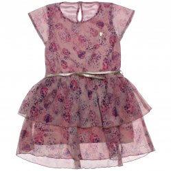 Vestido Infantil Colorittá Floral Chiffon e Cetim 31651