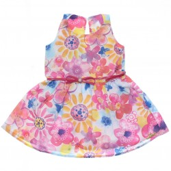 Vestido Infantil Colorittá Floral Cinto 30098