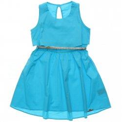 Vestido Infantil Colorittá Regata Liso Babado Cinto 31605