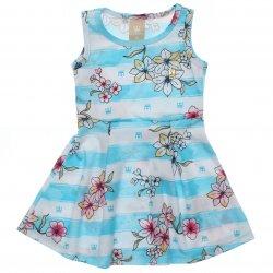 Vestido Infantil Colorittá Regata Listrado com Flores 31599