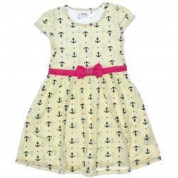 Vestido Infantil Elian Âncoras Laço com Strass 31025
