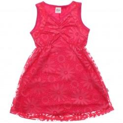 Vestido Infantil Elian Decote Drapeado Devorê Floral 30815