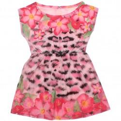Vestido Infantil Elian Estampa Floral Elástico Cintura 30814