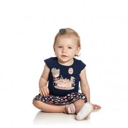 Vestido Infantil Elian Estampado Chá da Tarde 30089