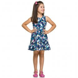Vestido Infantil Elian Estampado Passarinhos 31579