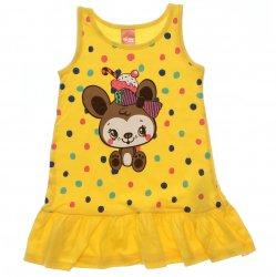 Vestido Infantil Elian Estampado Poa Colorido Ursinha 31464