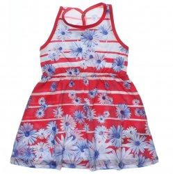 Vestido Infantil Elian Listrado Com Flores 31637