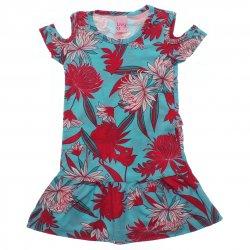 Vestido Infantil Livy Floral Recorte Ombro 31786