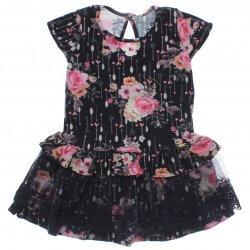 Vestido Infantil Trick Nick Floral Babado Renda 31632