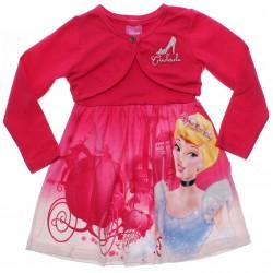 Vestido Inverno Disney Cinderela Bolero Bordado 30935