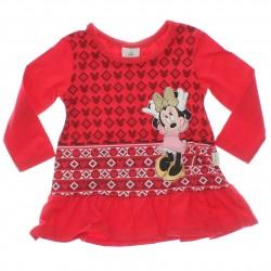 Vestido Inverno Disney Minnie Bebê Babado 29597