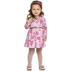 Vestido Inverno Infantil Elian Floral com Cinto 30892