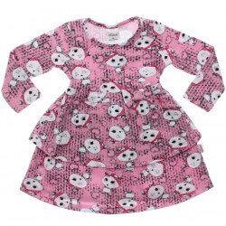Vestido Inverno Infantil Elian Ursinha Corações Laço Strass 30882