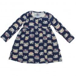 Vestido Inverno Pulla Bulla Infantil Animais Cute 31225