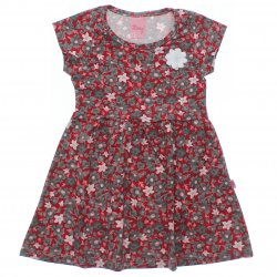 Vestido Livy Infantil Estampa Floral com aplique Flor 31782