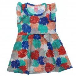 Vestido Livy Infantil Estampado Folhas Glitter 31801