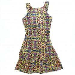 Vestido Lunender Juvenil Cotton  Regata Estampado 28835