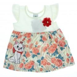 Vestido Marie Beb� Estampa e Aplique Flor - 28632