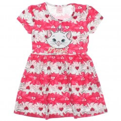 Vestido Marie Infantil Estampa Floral e Metalizada 29920