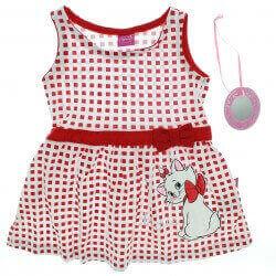 Vestido Marie Infantil Quadriculado Estampa e Espelho