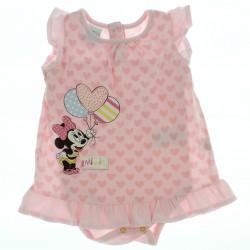 Vestido Minnie Disney Beb� Body Estampa Cora��es Bal�es