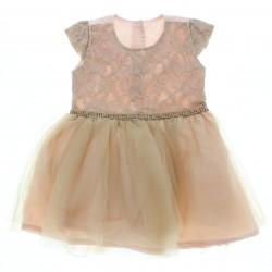 Vestido Paraiso Bebê Em renda Com Saia em Tule 28790