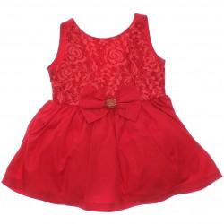 Vestido Paraíso Infantil Pala Renda e Laço Pedras 30223