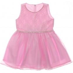 Vestido Paraíso Infantil Regata Renda Pérolas e Tule 30227