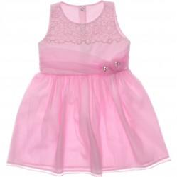 Vestido Paraíso Infantil Tachas e Barra Tule 30229