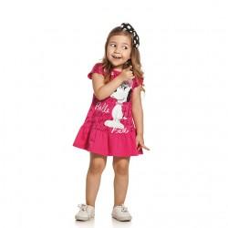 Vestido Snoopy Infantil Estampa Belle 30085