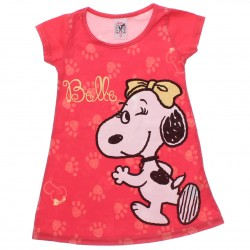 Vestido Snoopy Infantil Estampa Belle Piscando 30810