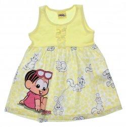 Vestido Turma da Mônica Infantil Babado e Barra Bolas 31429