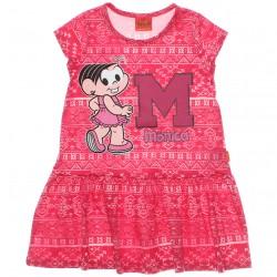 Vestido Turma da Mônica Infantil Estampa Abstrata 29923