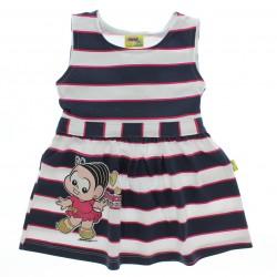 Vestido Turma da M�nica Infantil Menina Com Listras - 28573