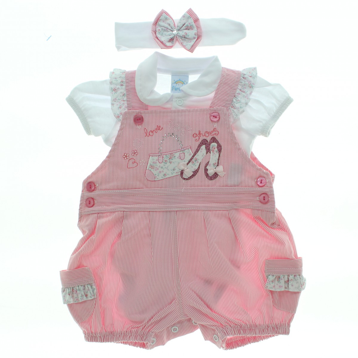 Compre macac o curto paraiso beb menina jardineira body for Jardineira bebe 1 ano