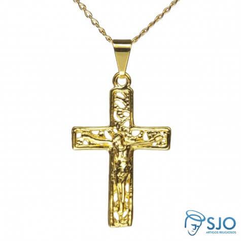 Colar com Crucifixo Vazado