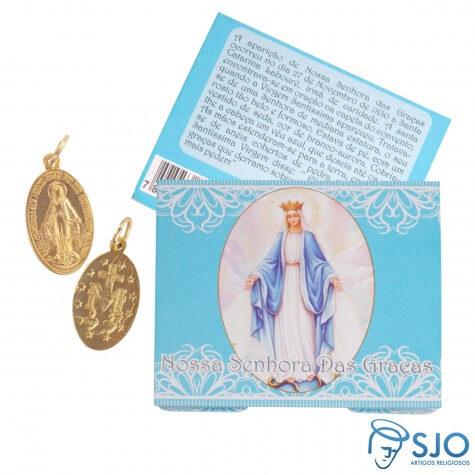 Cart�o de Nossa Senhora das Gra�as com Medalha Milagrosa