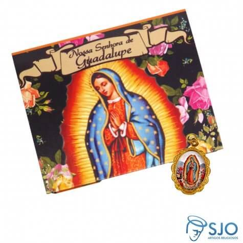 Cartão com Medalha da Nossa Senhora de Guadalupe