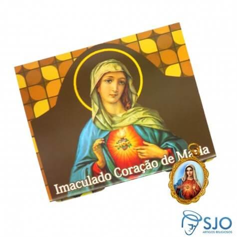 Cart�o com Medalha do Imaculado Cora��o de Maria - Modelo 02
