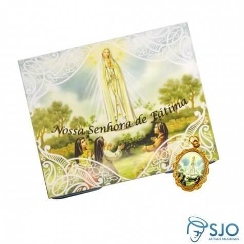 100 Cart�es com Medalha de Nossa Senhora de F�tima