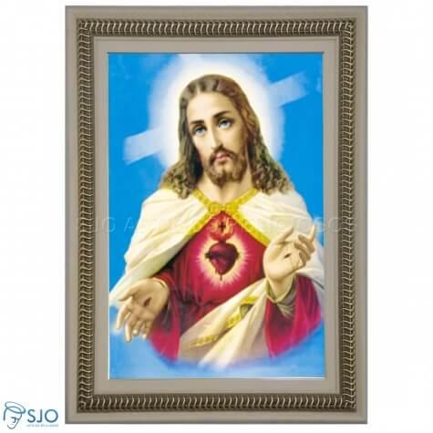 Quadro Religioso Sagrado Cora��o de Jesus - Mod. 3
