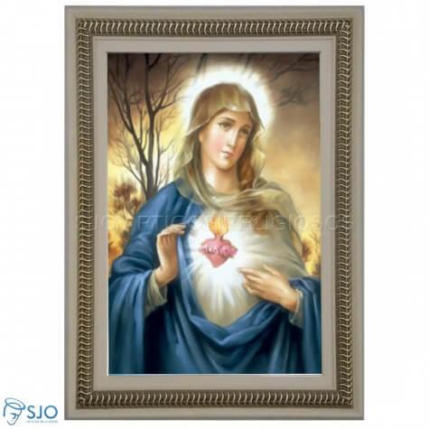 Quadro Religioso Sagrado Cora��o de Maria
