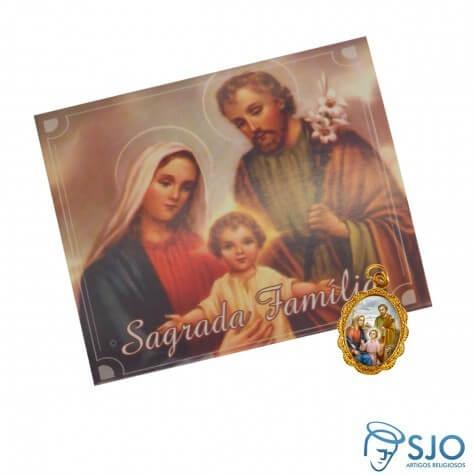 100 Cartões com Medalha da Sagrada Família