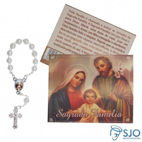 100 Cartões com Mini Terço da Sagrada Família