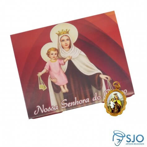 100 Cartões com Medalha de Nossa Senhora do Carmo